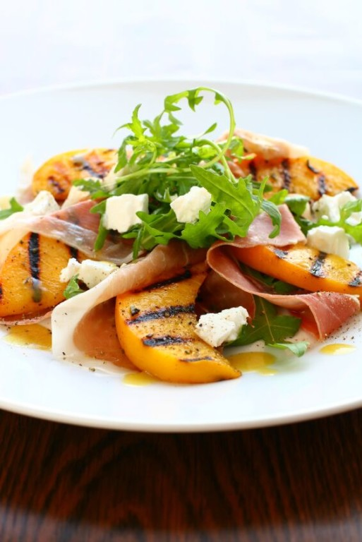Peach-Pancetta-Arugula-Salad